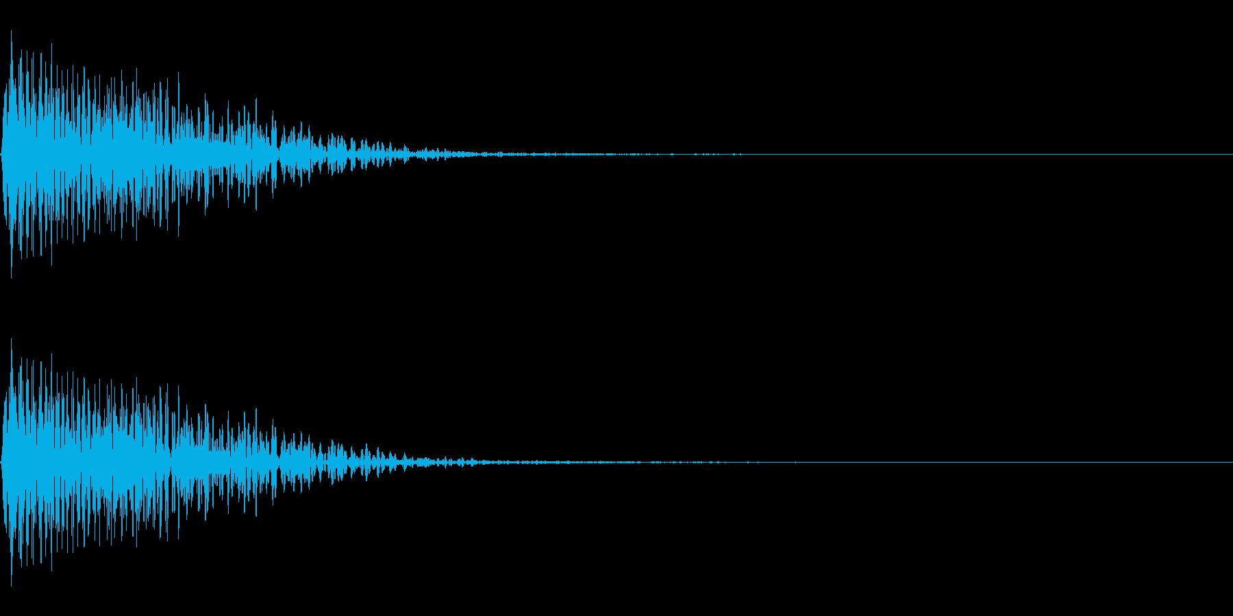 パワーダウン下降音 ドゥーンの再生済みの波形