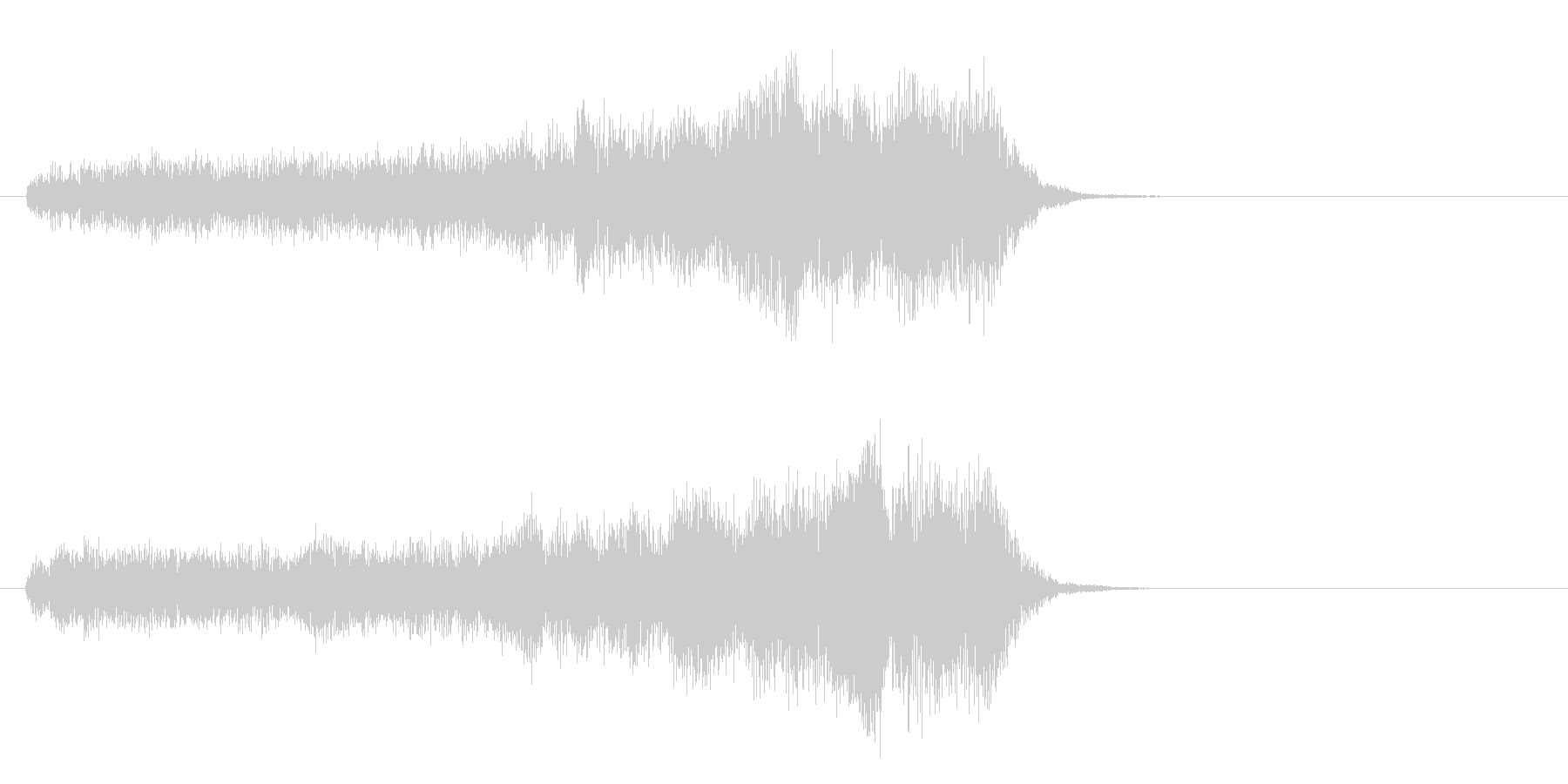 重力場の未再生の波形