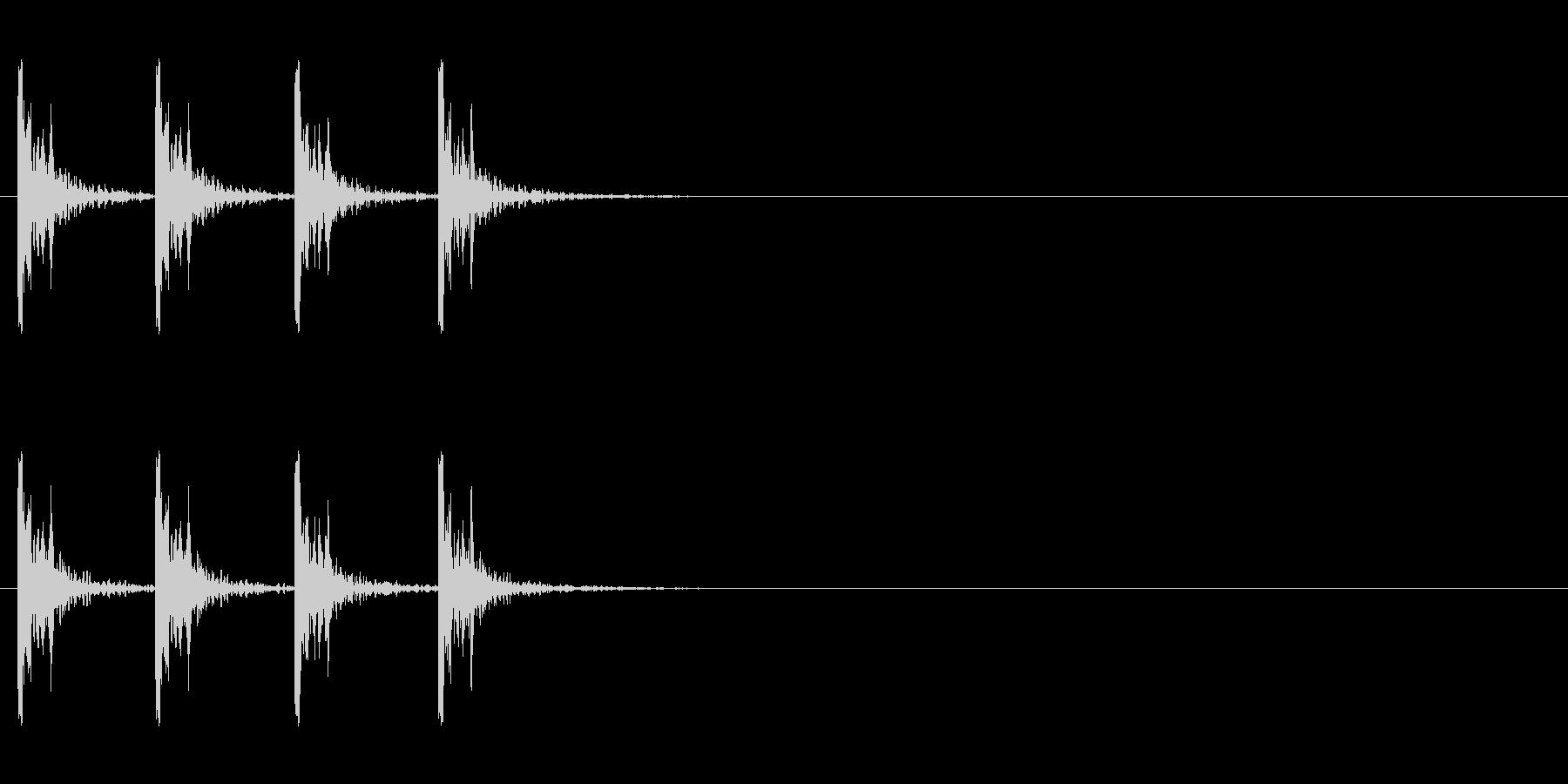 カウント音、バスドラムの未再生の波形