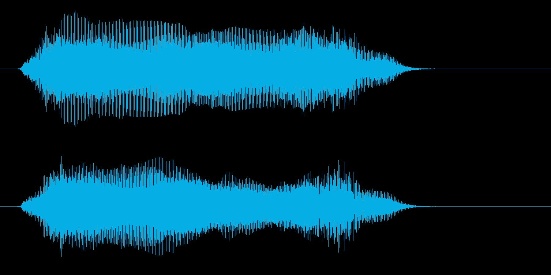 宇宙や近未来感の音(ワープ、マシーン)の再生済みの波形