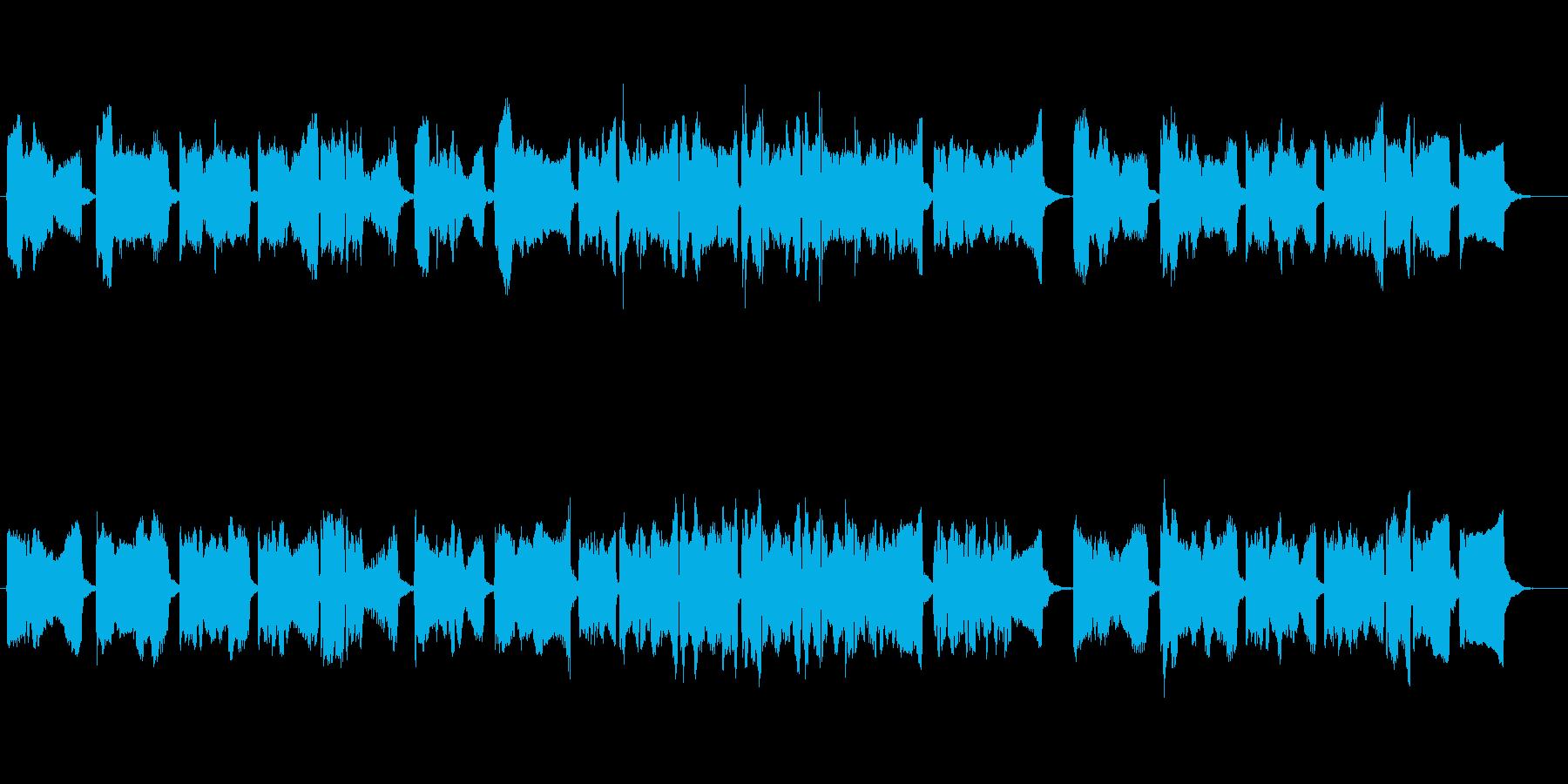 ホラー風味のチェロ曲の再生済みの波形