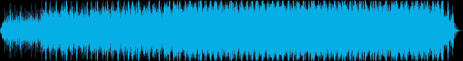 雨音と電子音のエレクトロ・アンビエントの再生済みの波形