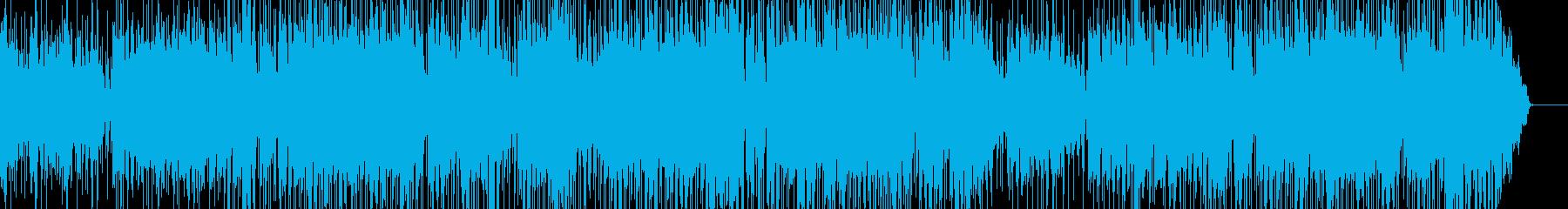 エレキギターによるけだるい感じのロックの再生済みの波形