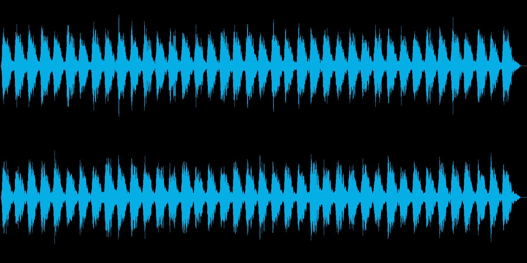 時間がゆっくりと流れるシンセサウンドの再生済みの波形