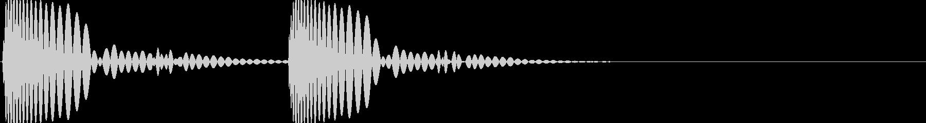 ドックンという鼓動音です。の未再生の波形
