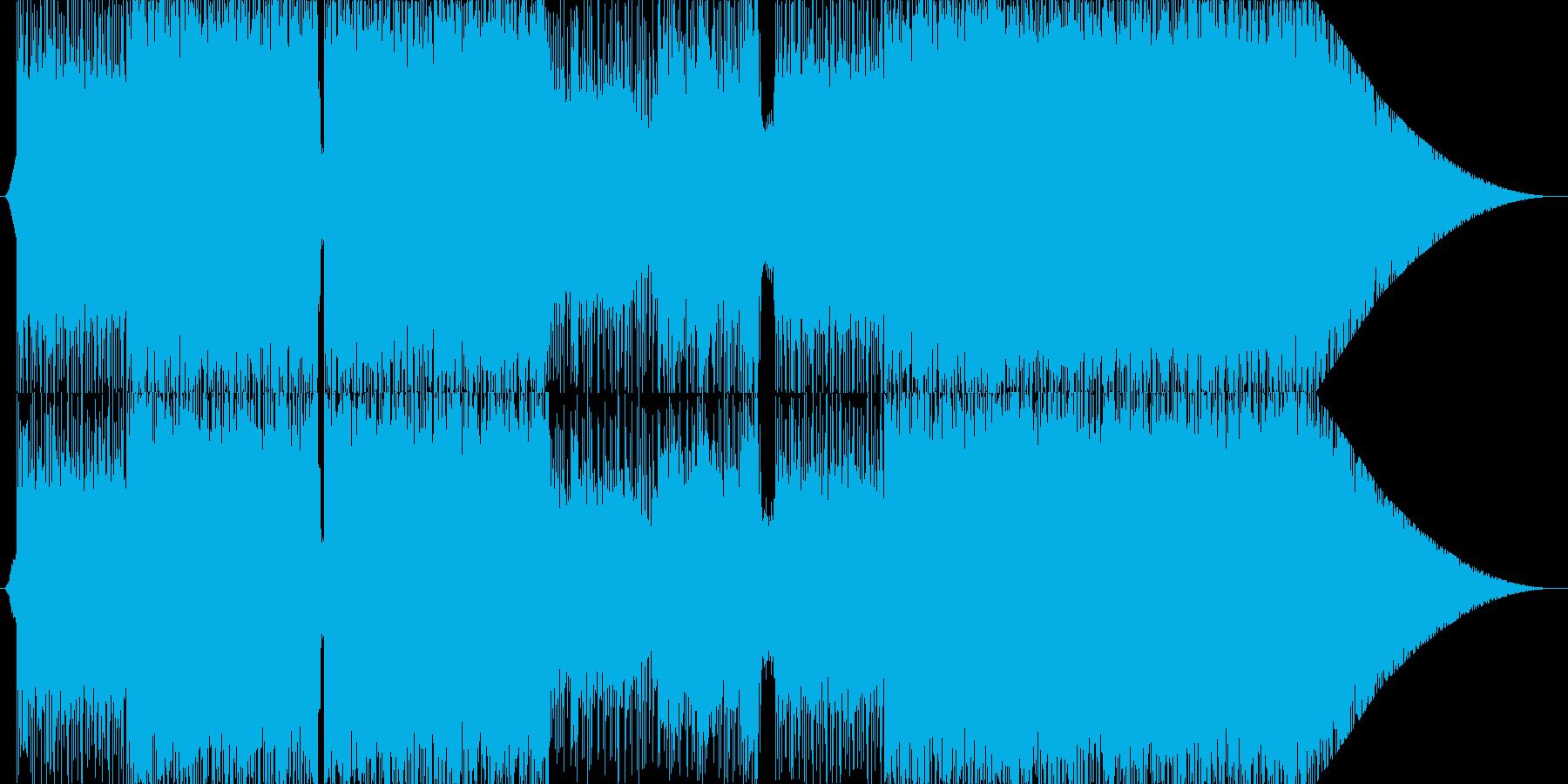 重厚なギターサウンドのインスト楽曲の再生済みの波形