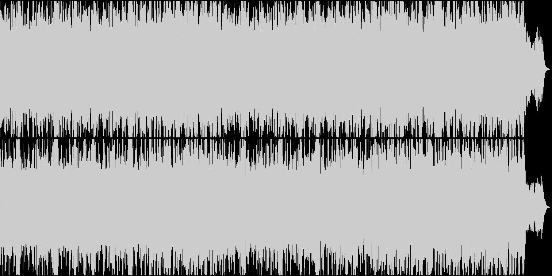 不気味に迫るような壮大なBGMの未再生の波形