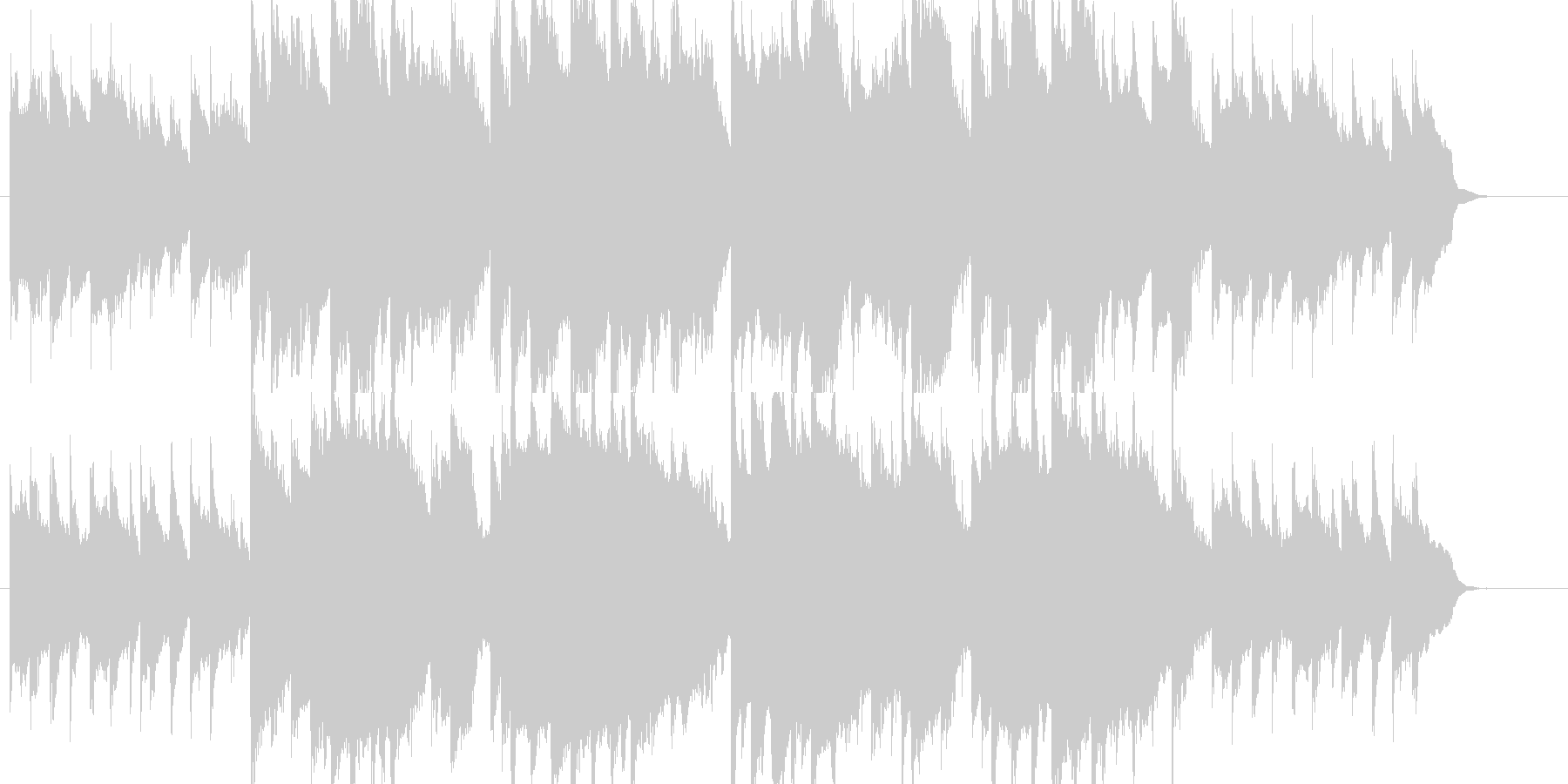 こいのぼりの未再生の波形
