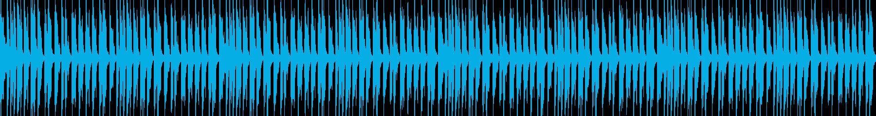 軽快で陽気なBGMの再生済みの波形