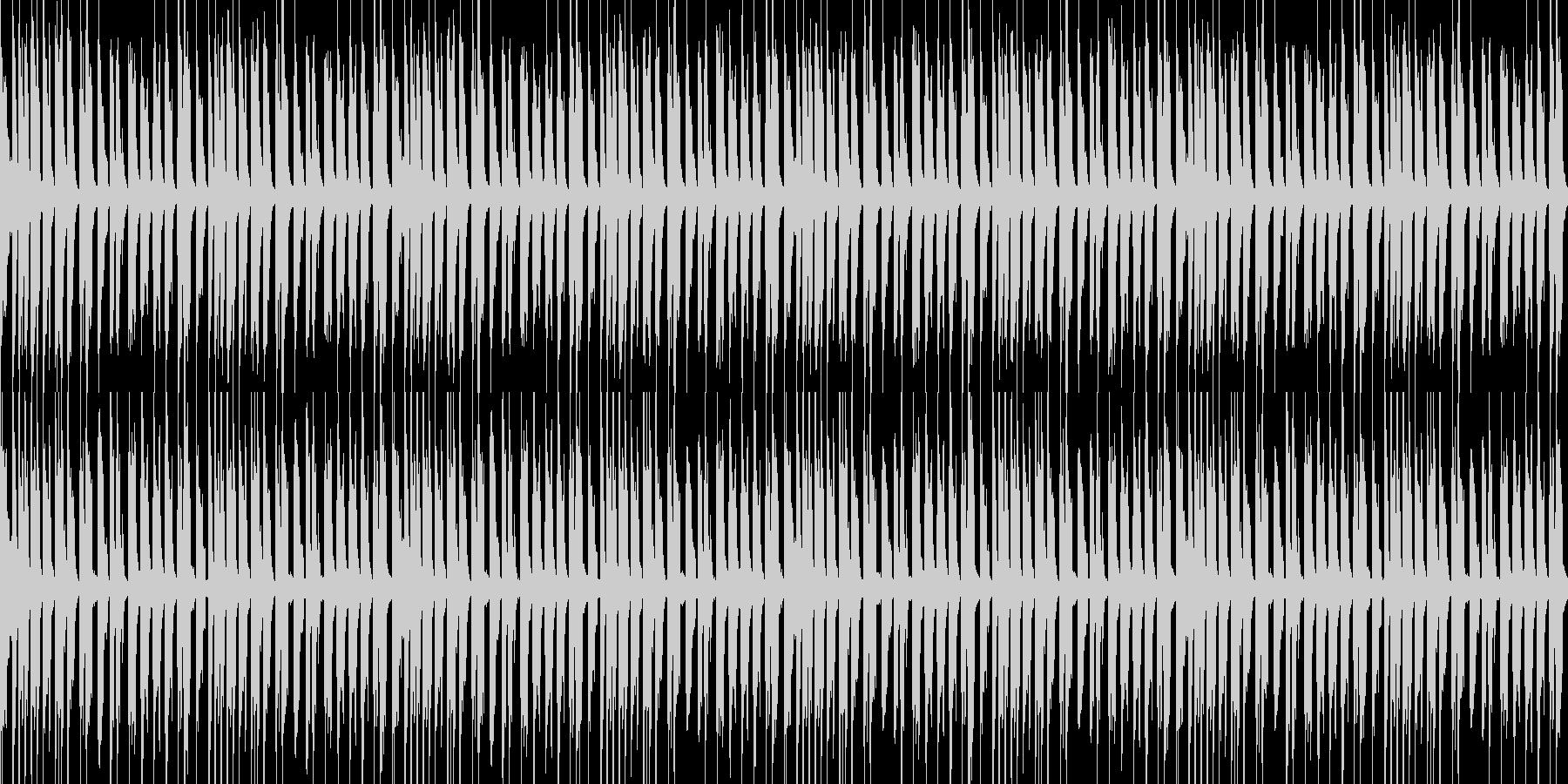 軽快で陽気なBGMの未再生の波形
