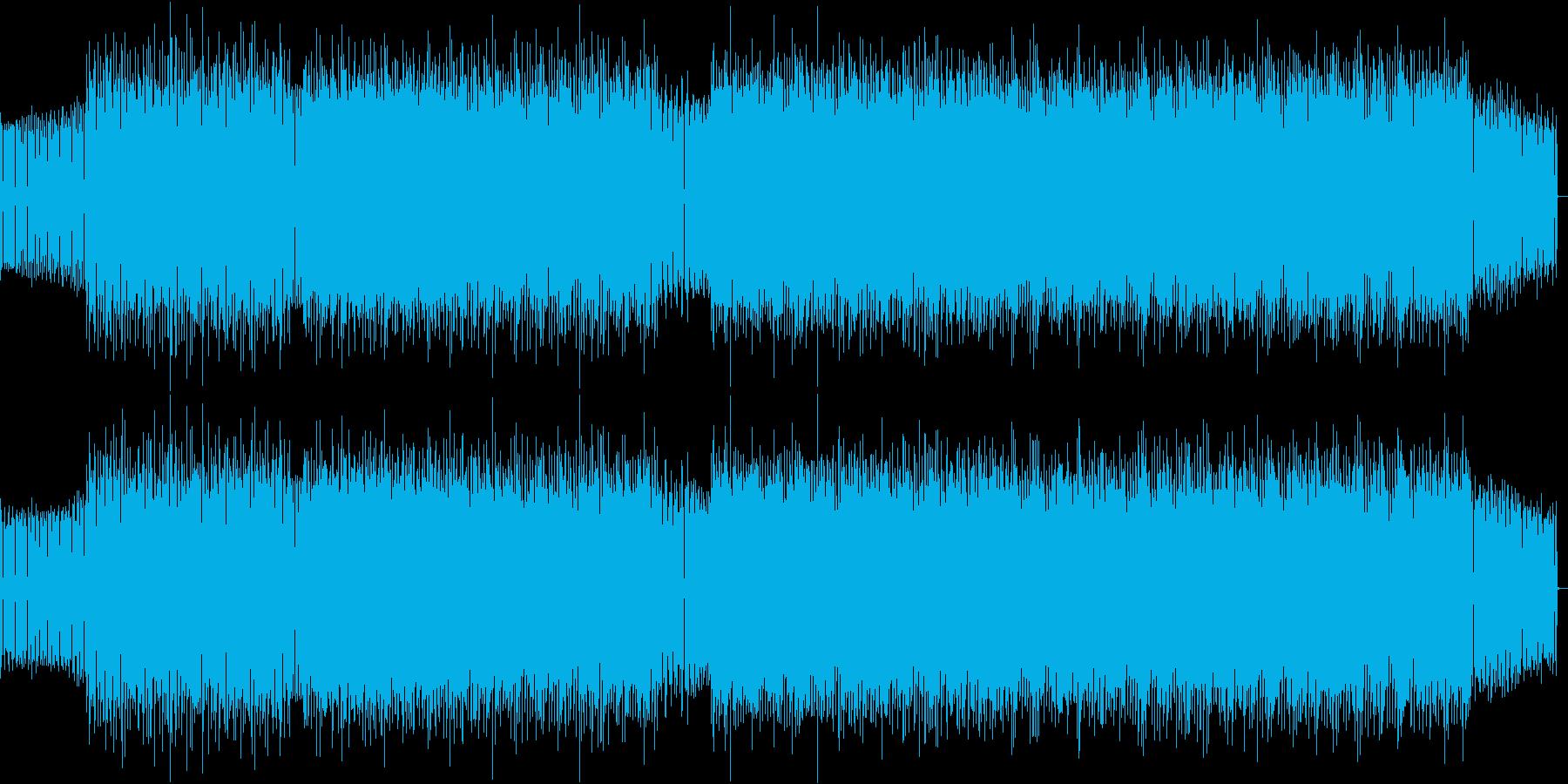 攻撃的なアシッドテクノの再生済みの波形