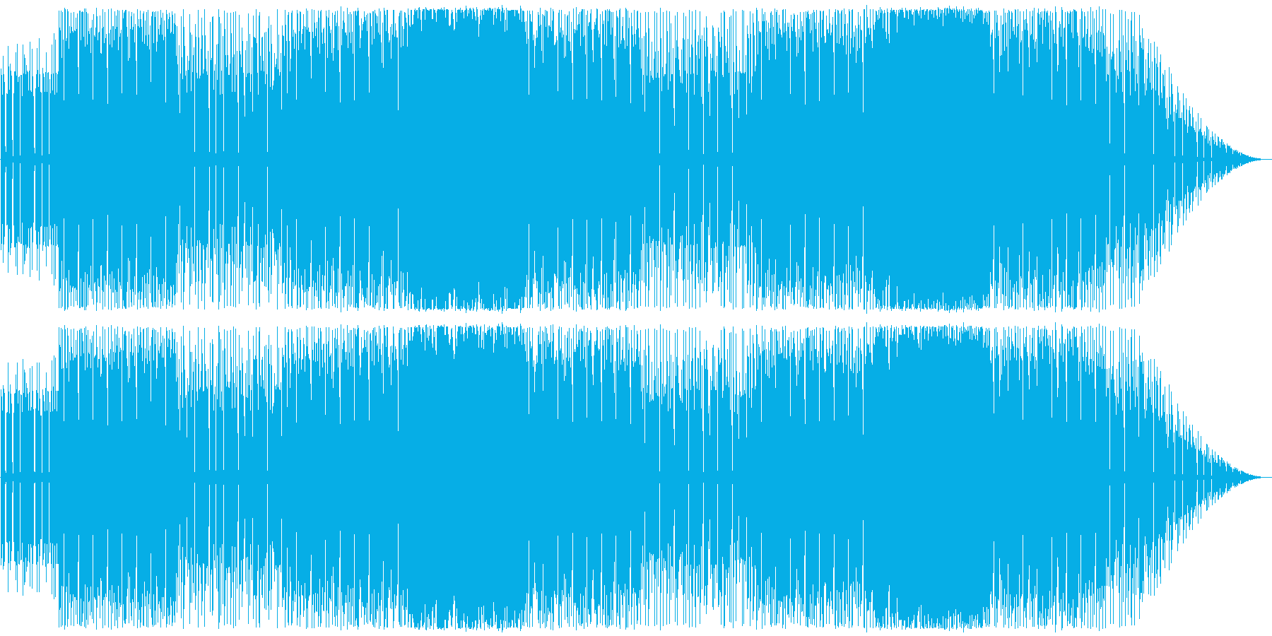 ファミコンサウンド曲。の再生済みの波形