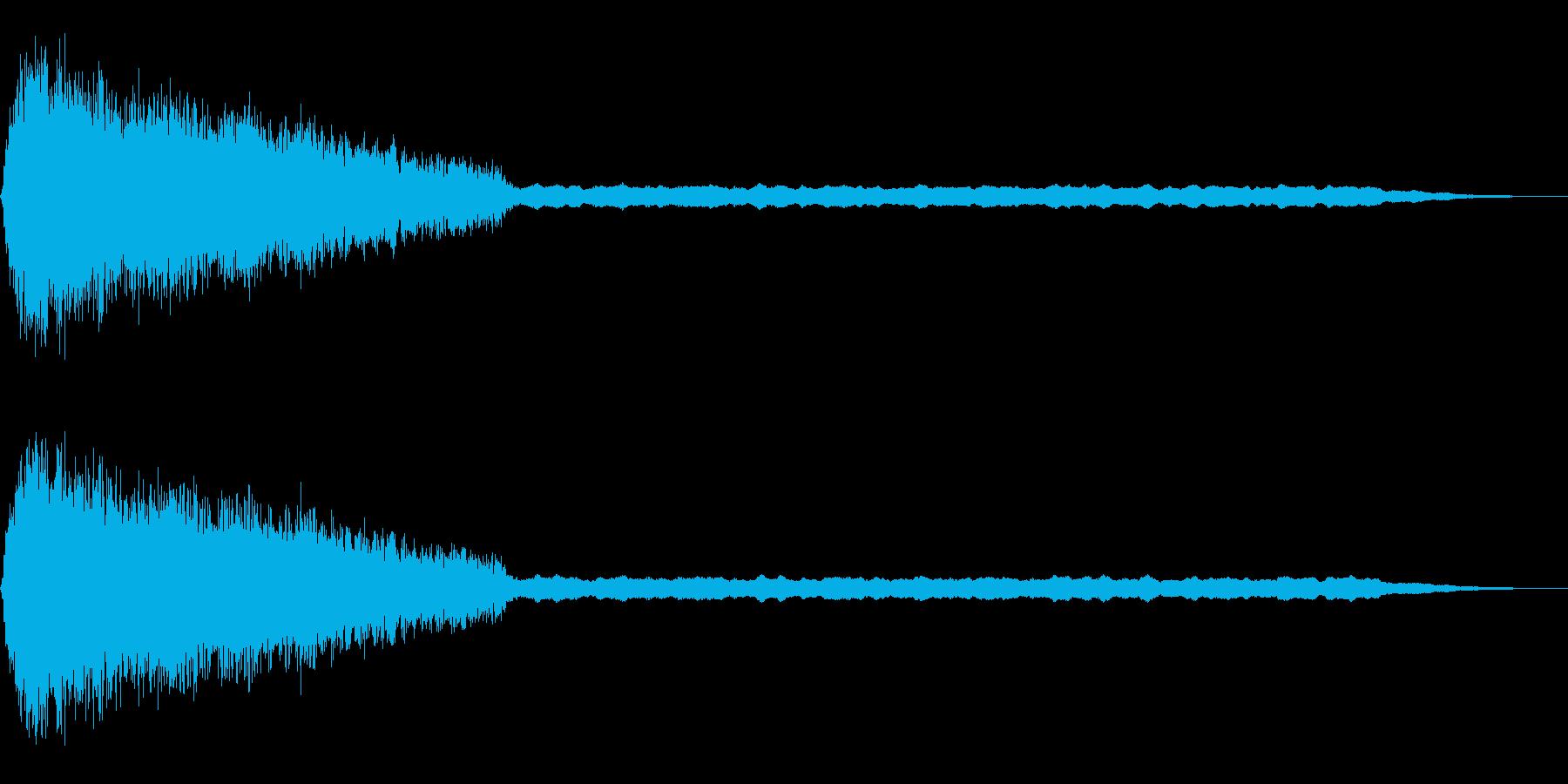 闇の世界やブラックホール的な持続音の再生済みの波形