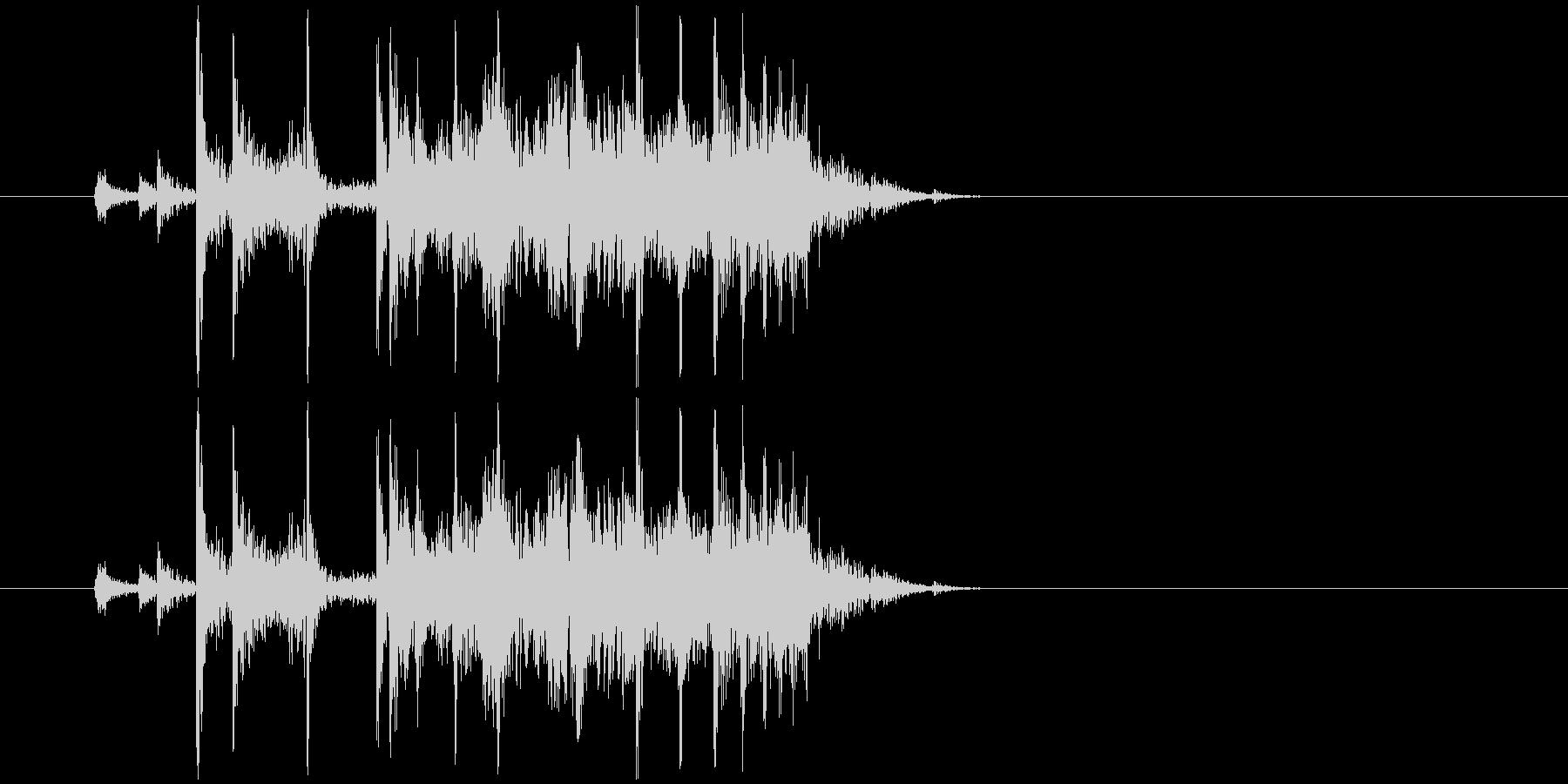 (カラン)空き缶を転がす音の未再生の波形