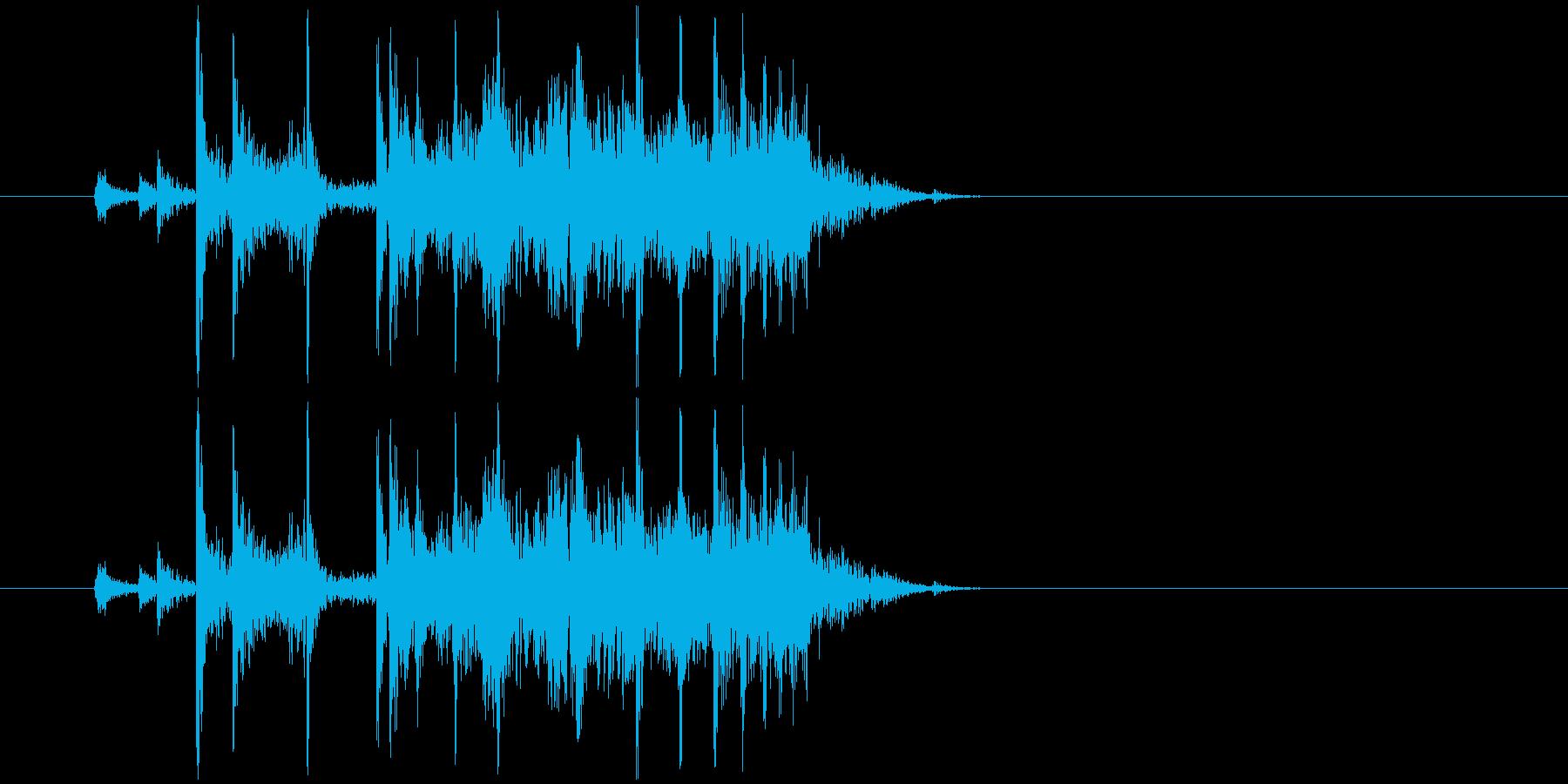 (カラン)空き缶を転がす音の再生済みの波形