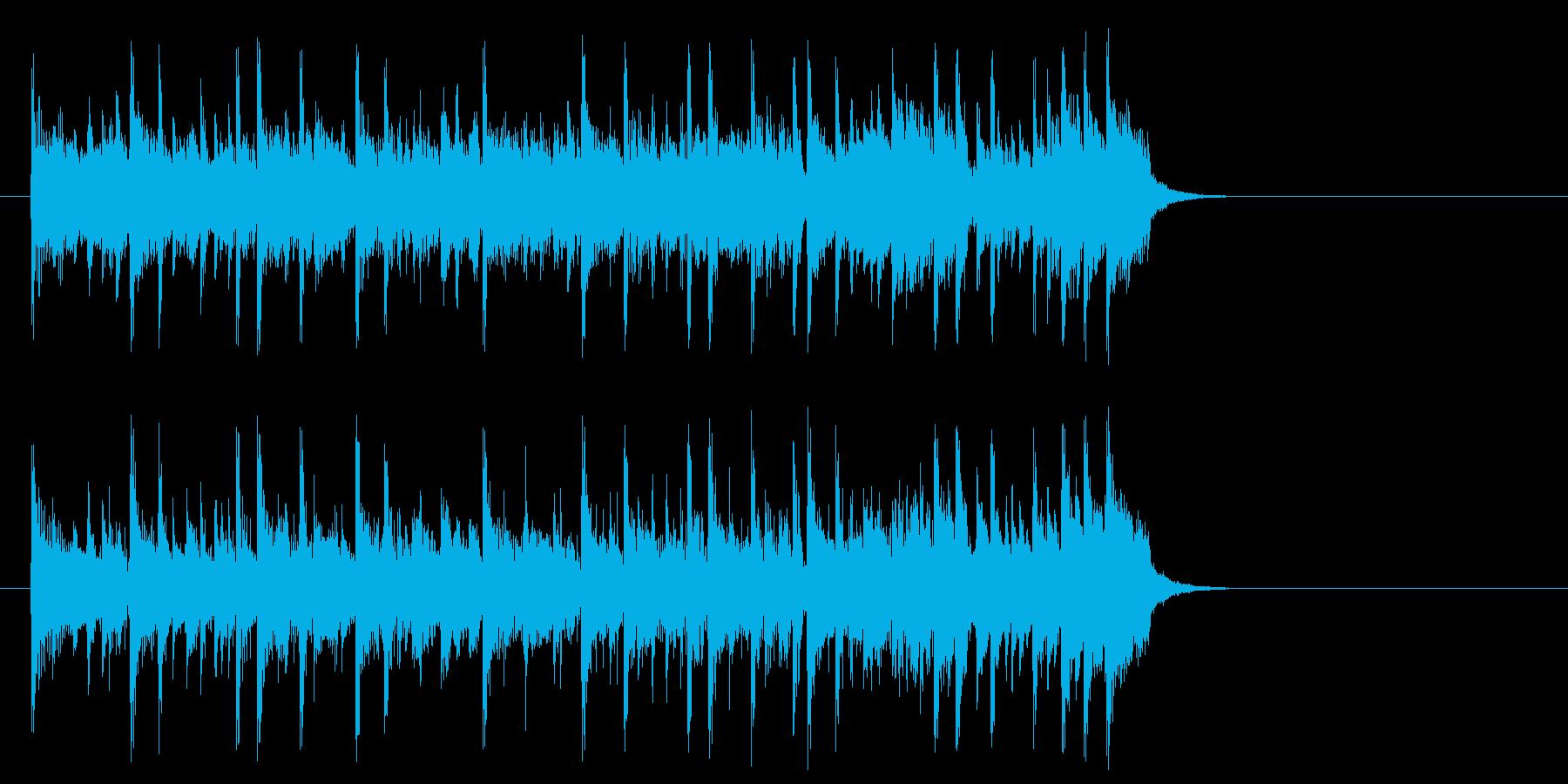 前向きで充実したポップ(イントロ)の再生済みの波形