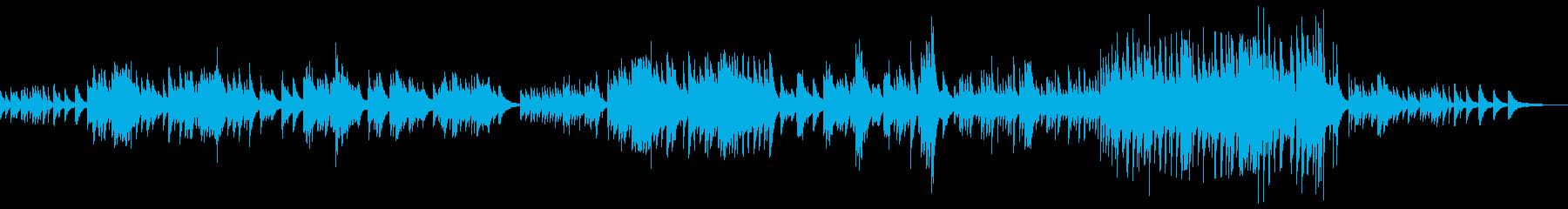 のどかな自然を感じさせるピアノ曲の再生済みの波形