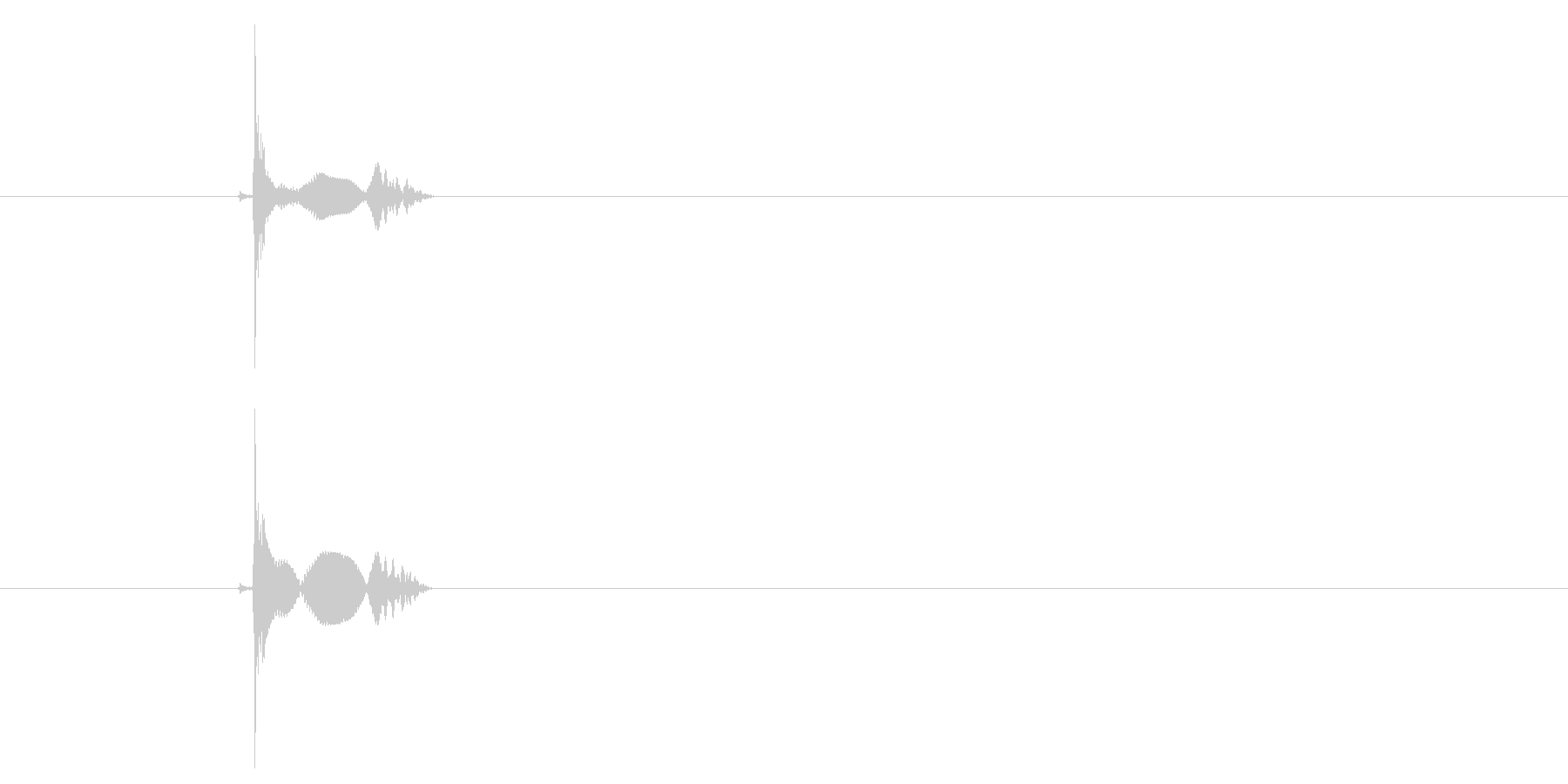 ぽよん(水面に物体を落とした音)の未再生の波形
