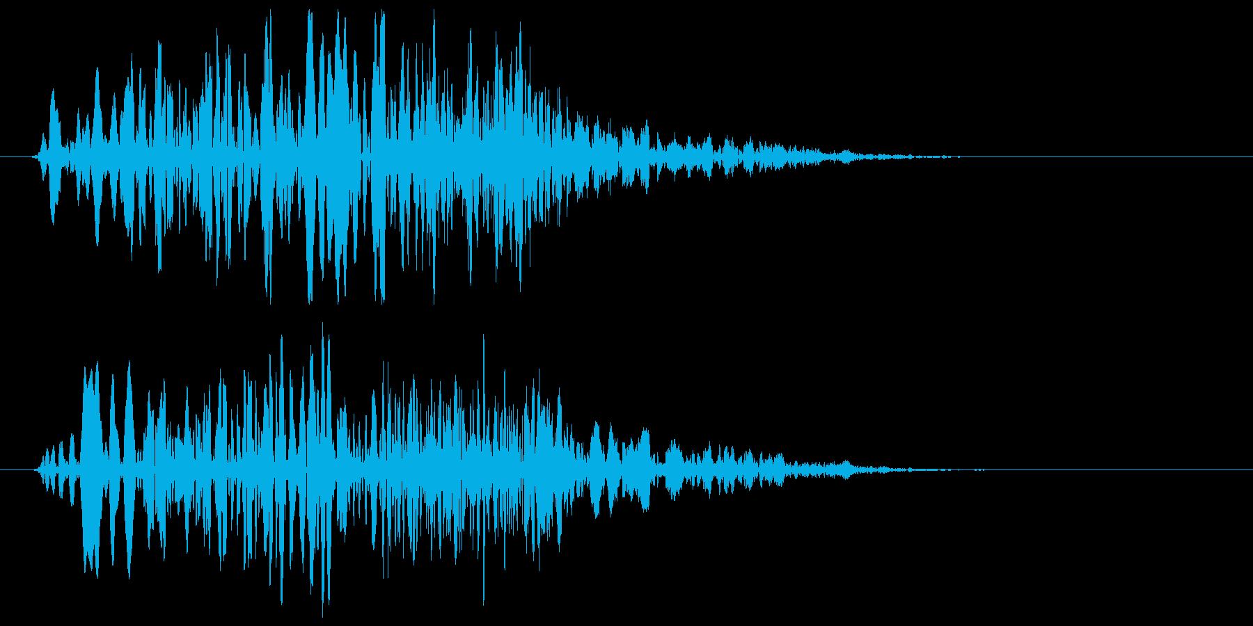 時代劇で人を切った音の再生済みの波形