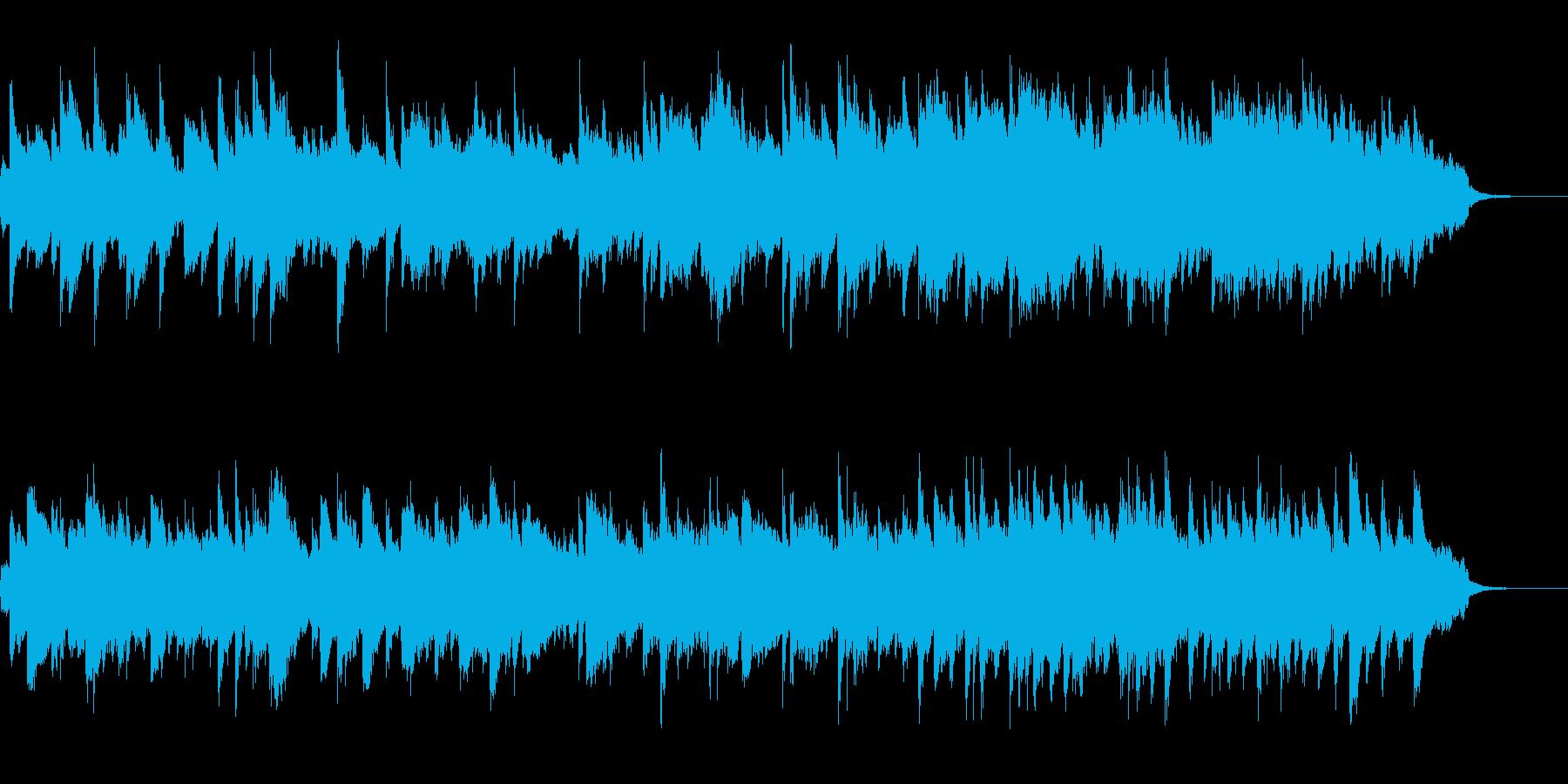 水の中をイメージしたアンビエントの再生済みの波形