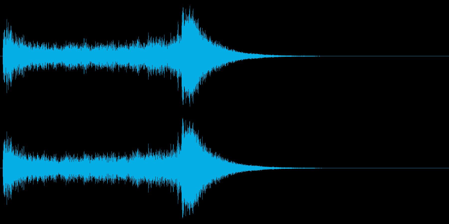 汎用07 ドラムロール(5秒でシンバル)の再生済みの波形