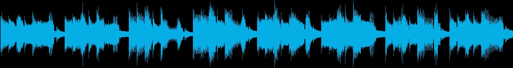 コミカルで軽快な子供向けジングル_ループの再生済みの波形