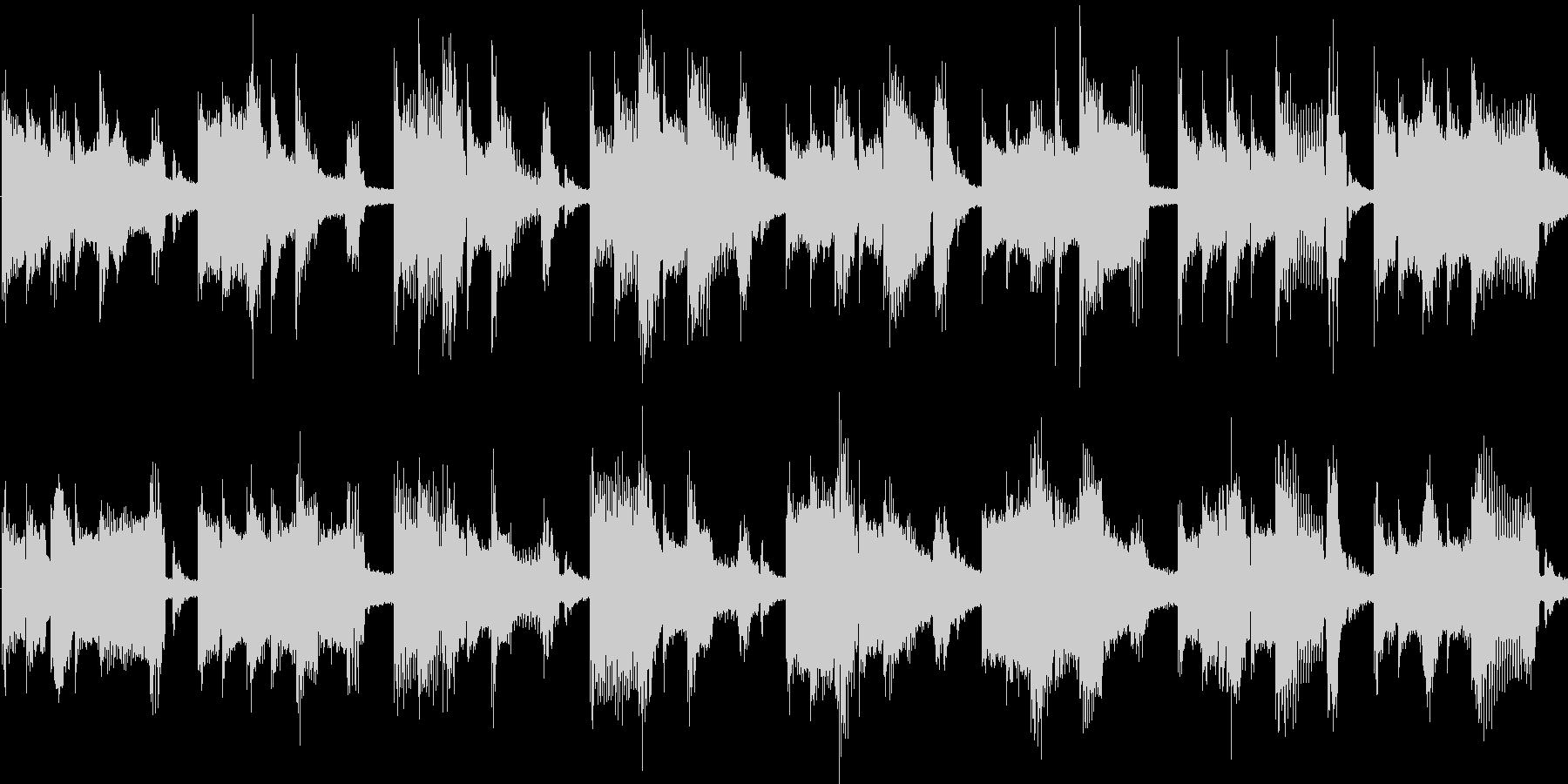 コミカルで軽快な子供向けジングル_ループの未再生の波形