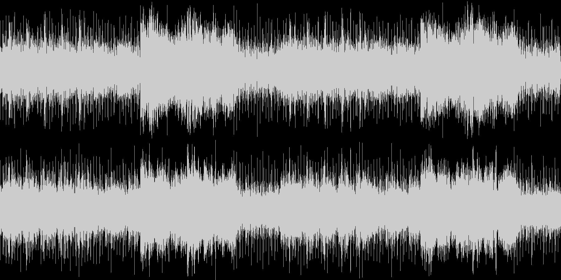 ホラー要素の強い不安定なアンビエントの未再生の波形