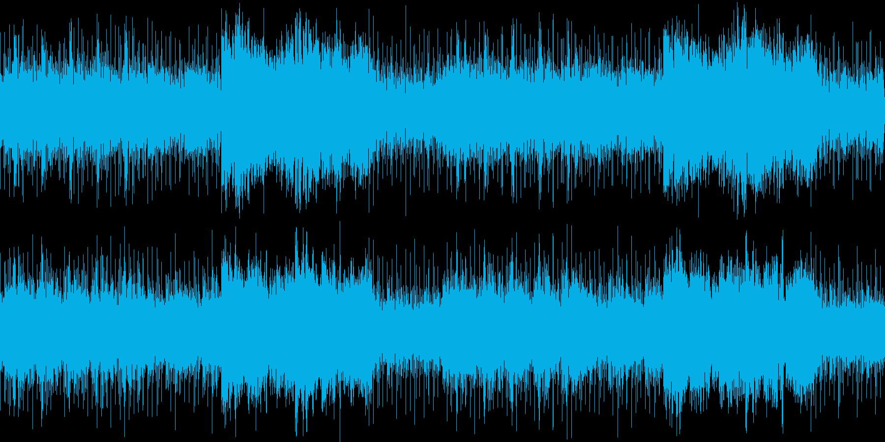ホラー要素の強い不安定なアンビエントの再生済みの波形