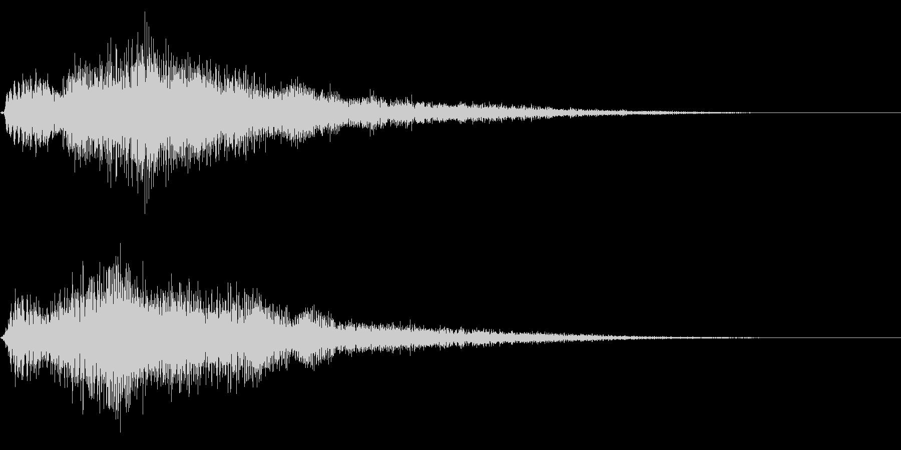 ゴージャスな決定音8の未再生の波形