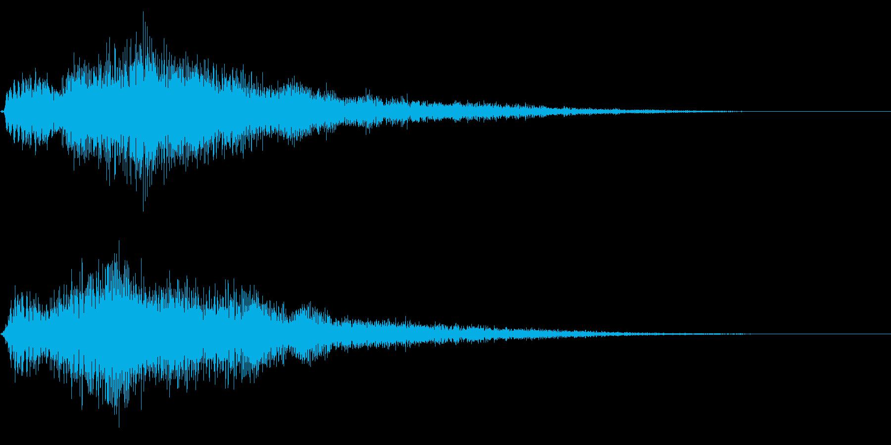 ゴージャスな決定音8の再生済みの波形