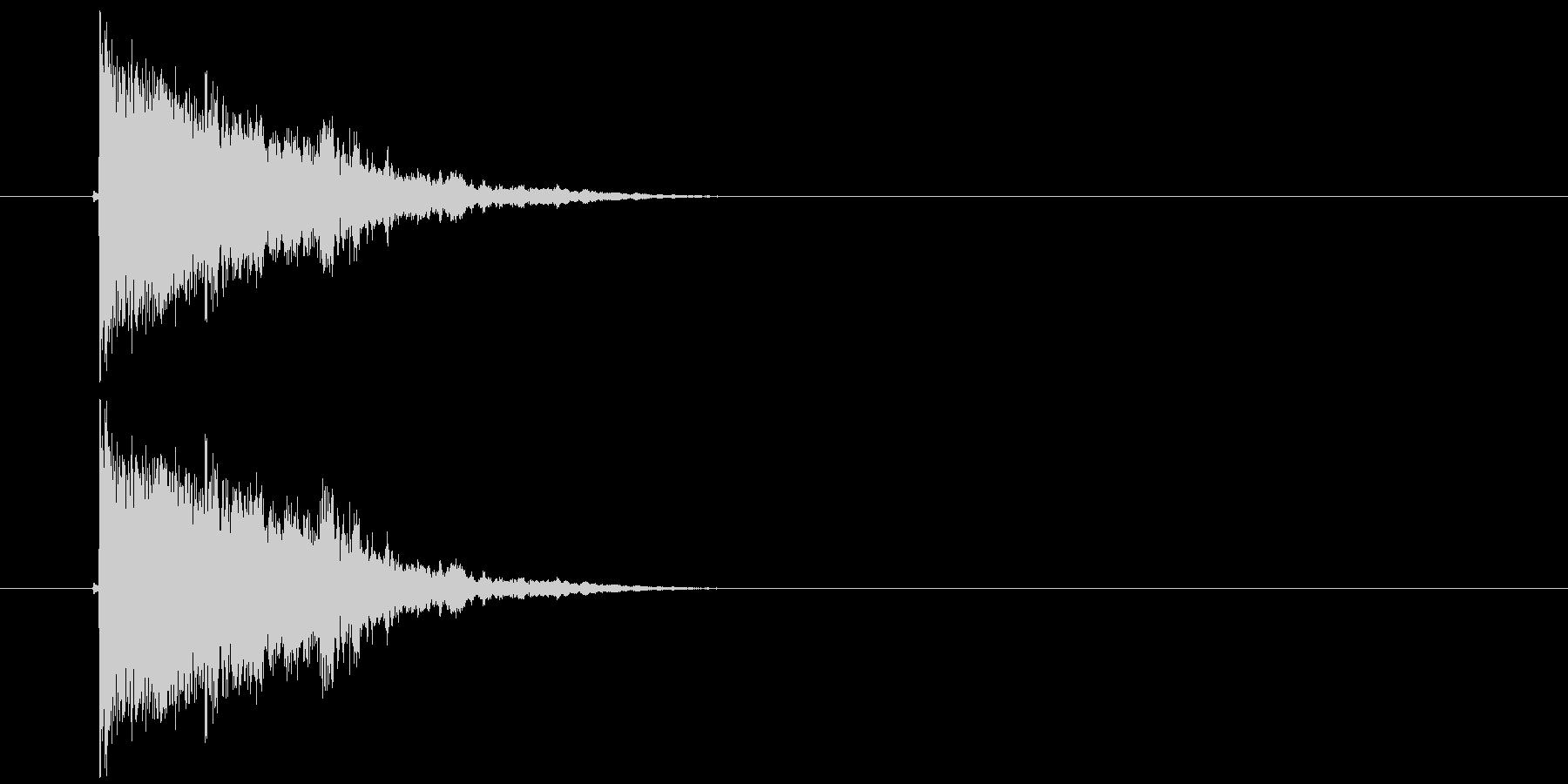 バリーン!(派手にガラスの割れる音)の未再生の波形