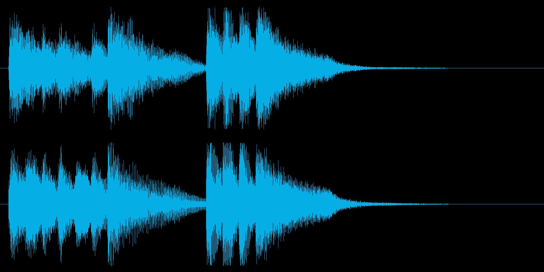 フュージョン的なピアノジングルの再生済みの波形
