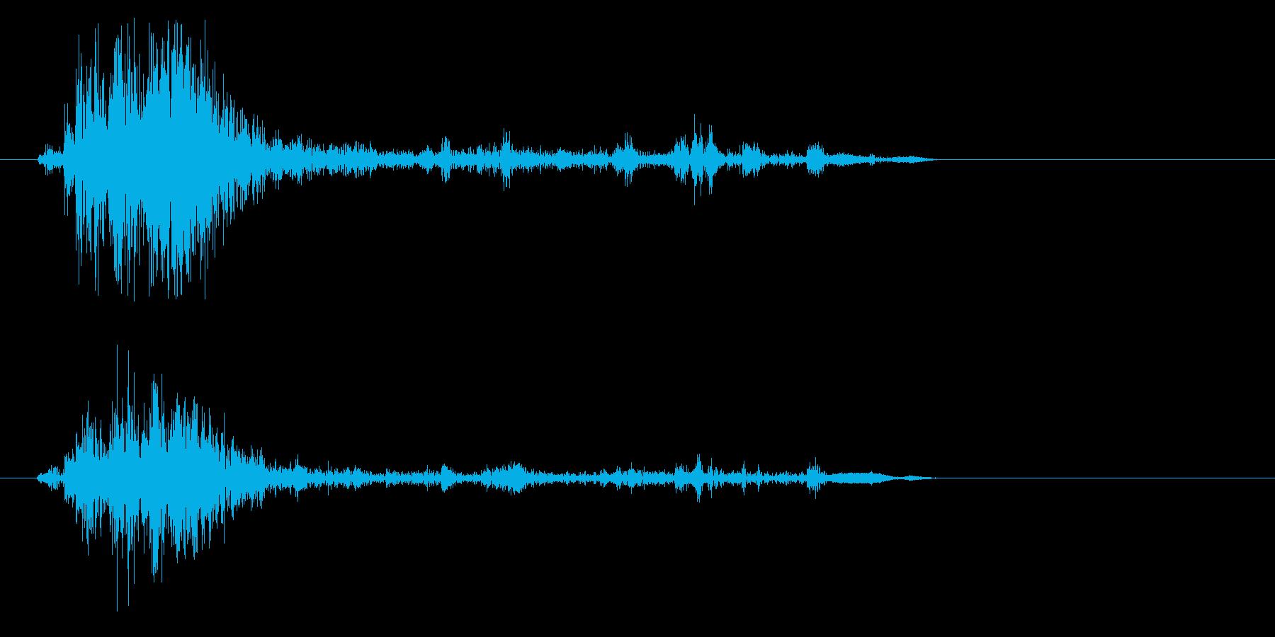 ガシャッ(物音)弱めの再生済みの波形