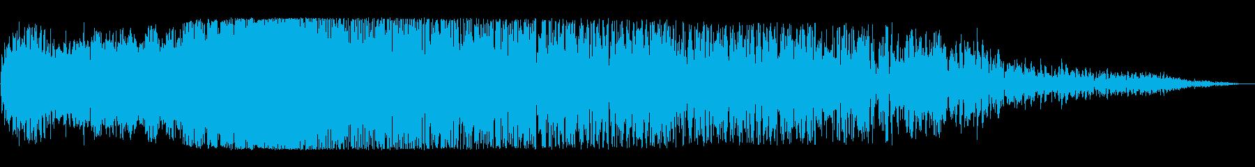 ワープ突入(すさまじさを表現した効果音)の再生済みの波形