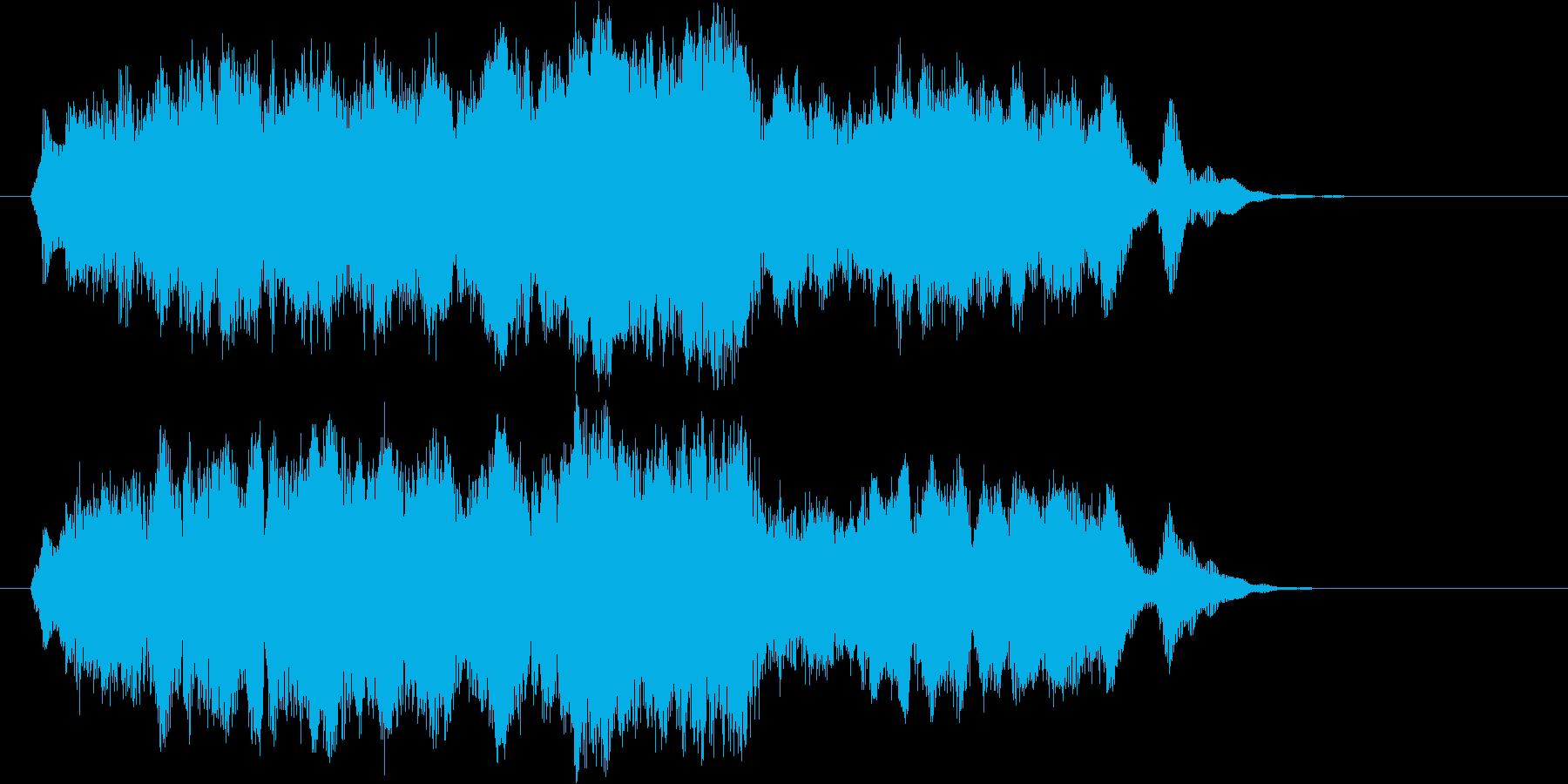 爽やかなオーケストラのエンド用ジングルの再生済みの波形