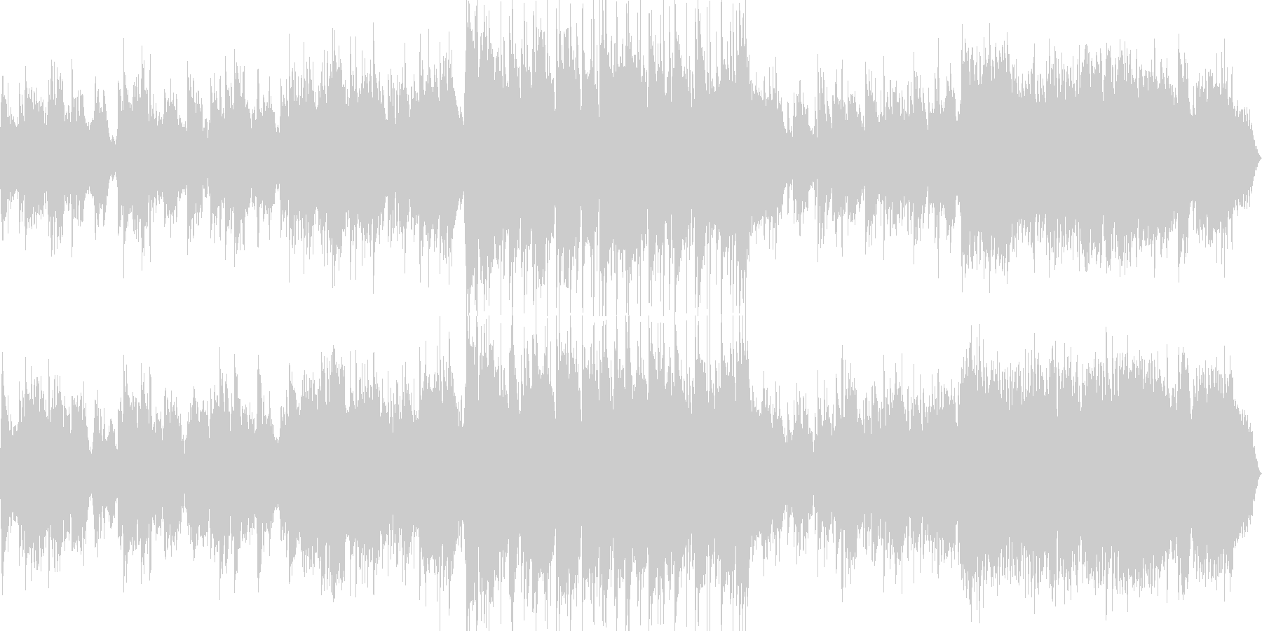 ピアノとギターの爽やかなバラード風BGMの未再生の波形
