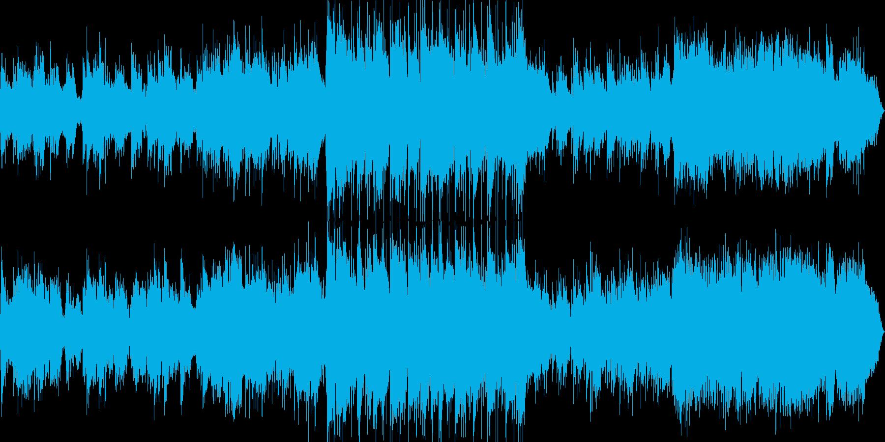 ピアノとギターの爽やかなバラード風BGMの再生済みの波形
