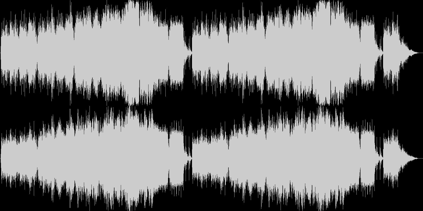 不思議な森をイメージしたBGMの未再生の波形