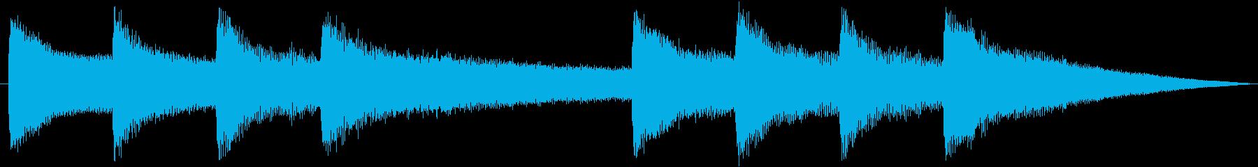 学校のチャイムや鐘の音に最適です!の再生済みの波形