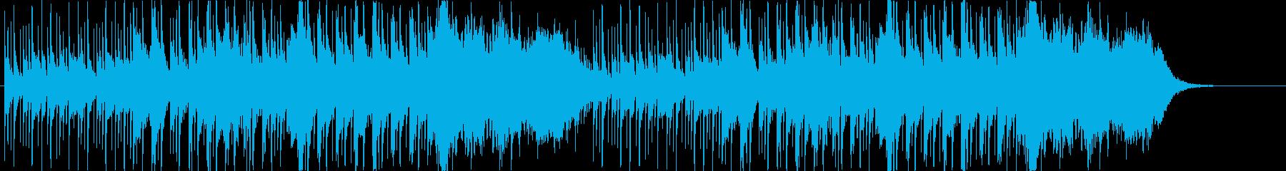 ほのぼのしたマーチ風ジングルの再生済みの波形