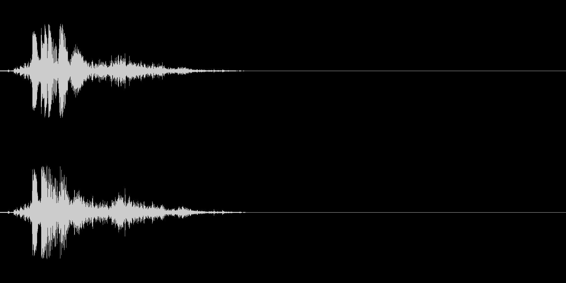ハンドガン ワンショット1の未再生の波形