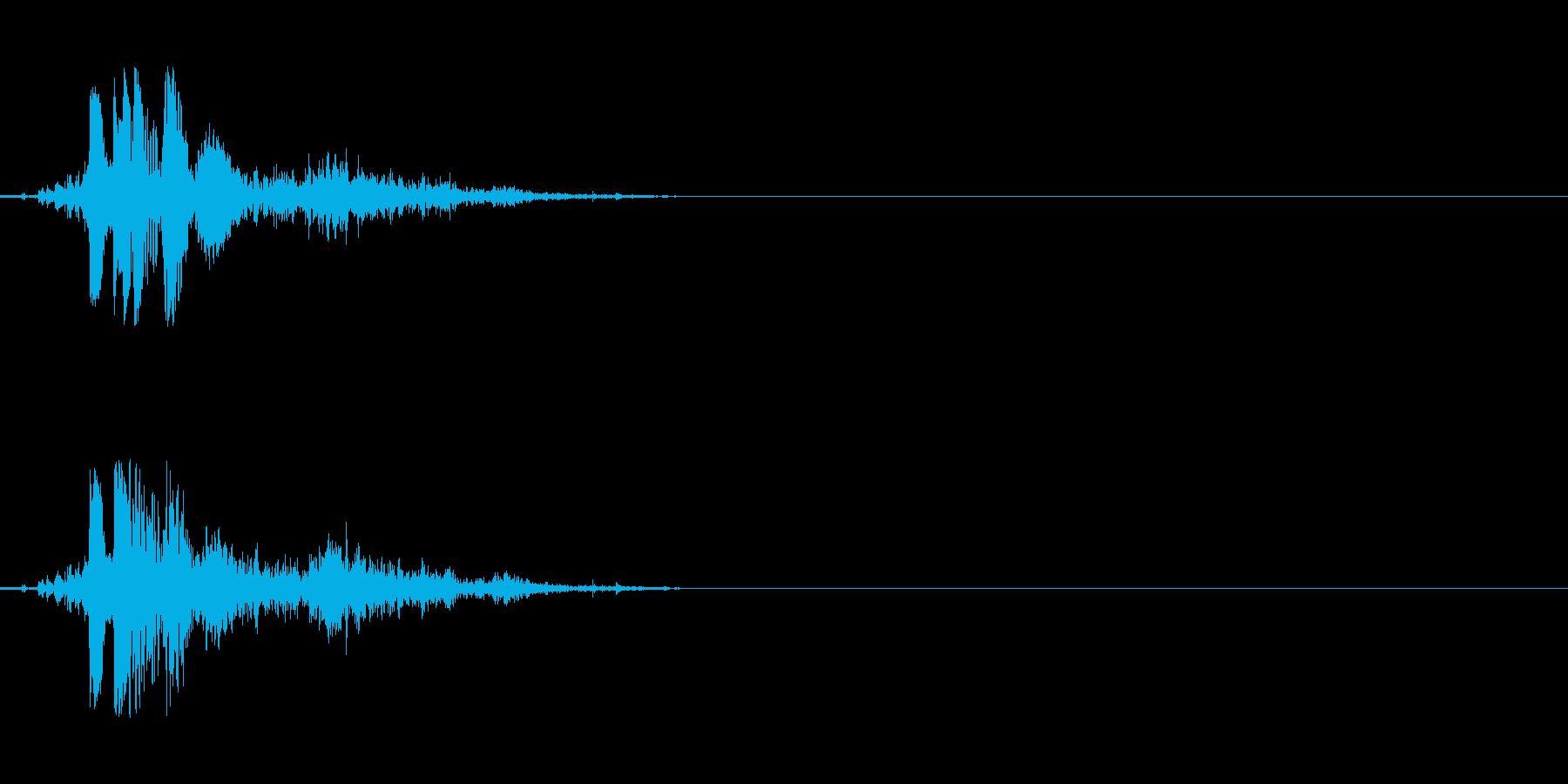 ハンドガン ワンショット1の再生済みの波形