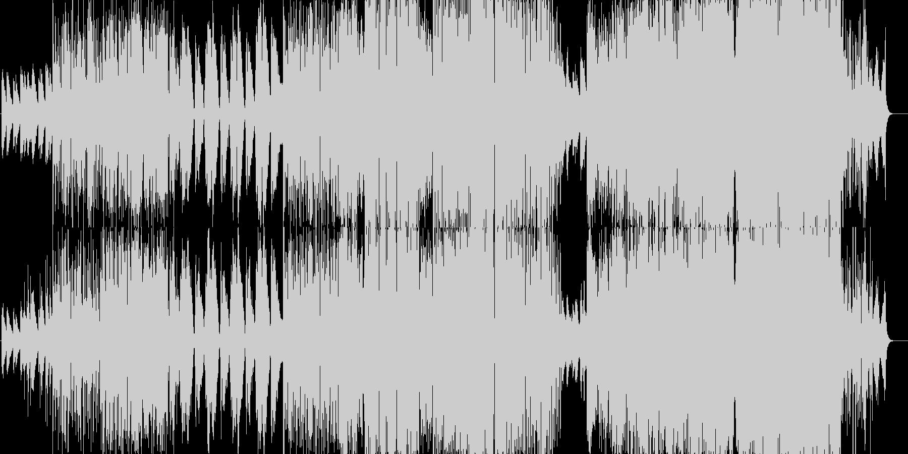 ピアノ始まりの爽快感抜群の一曲の未再生の波形