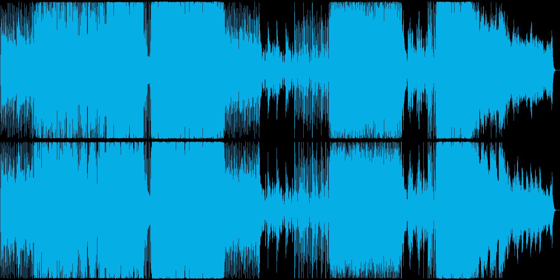 ドラマチックなデジタルオーケストラギターの再生済みの波形