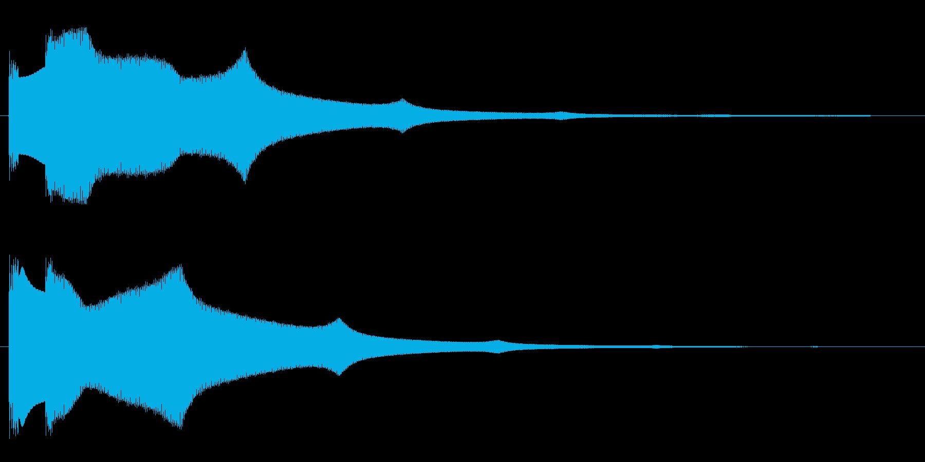 キラーン(星が輝くような音)の再生済みの波形