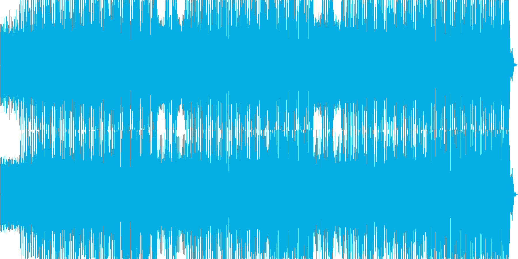 パワフルなデスメタルBGMの再生済みの波形