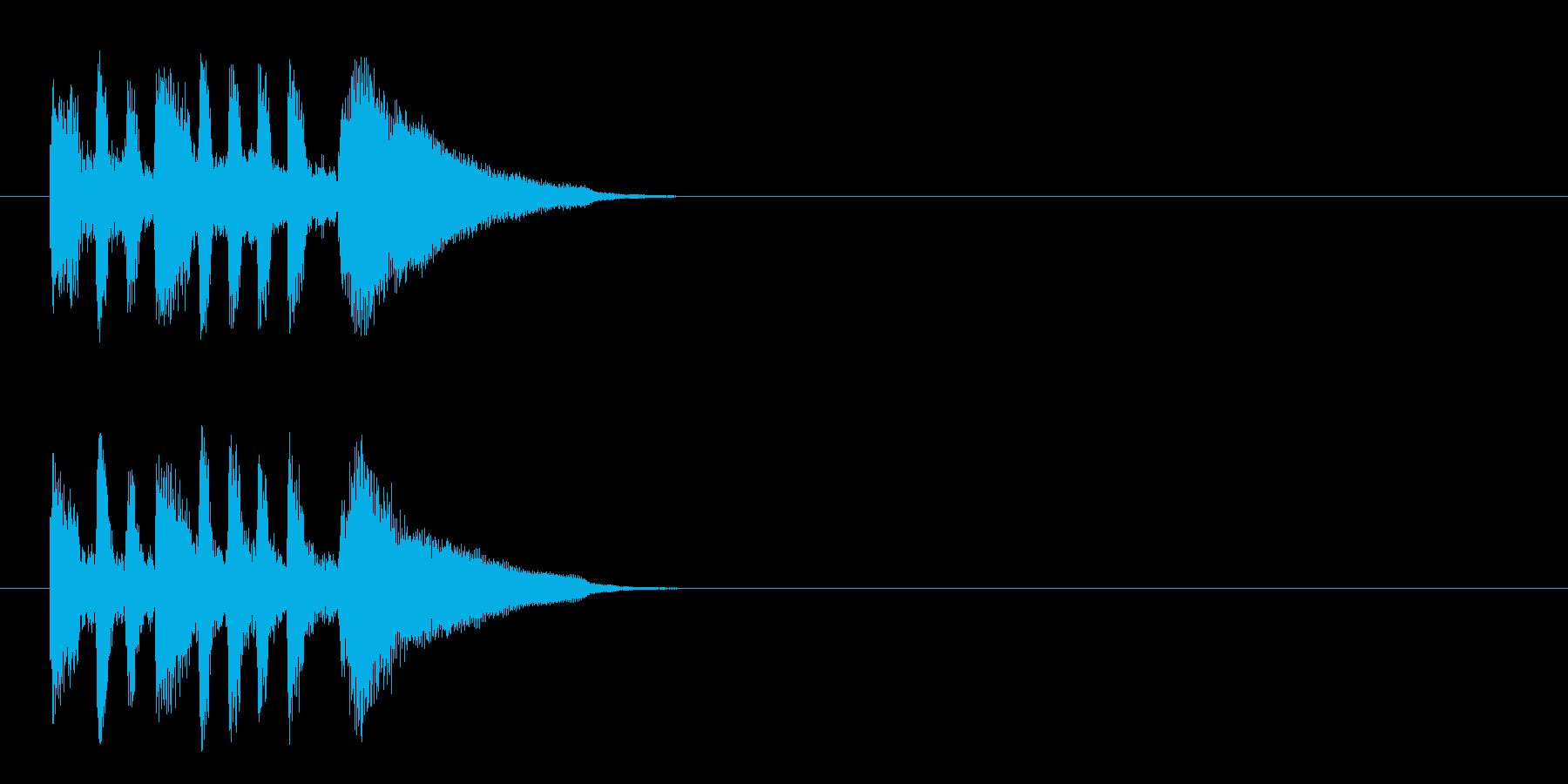 ジングル/爽やか(アコースティック)の再生済みの波形