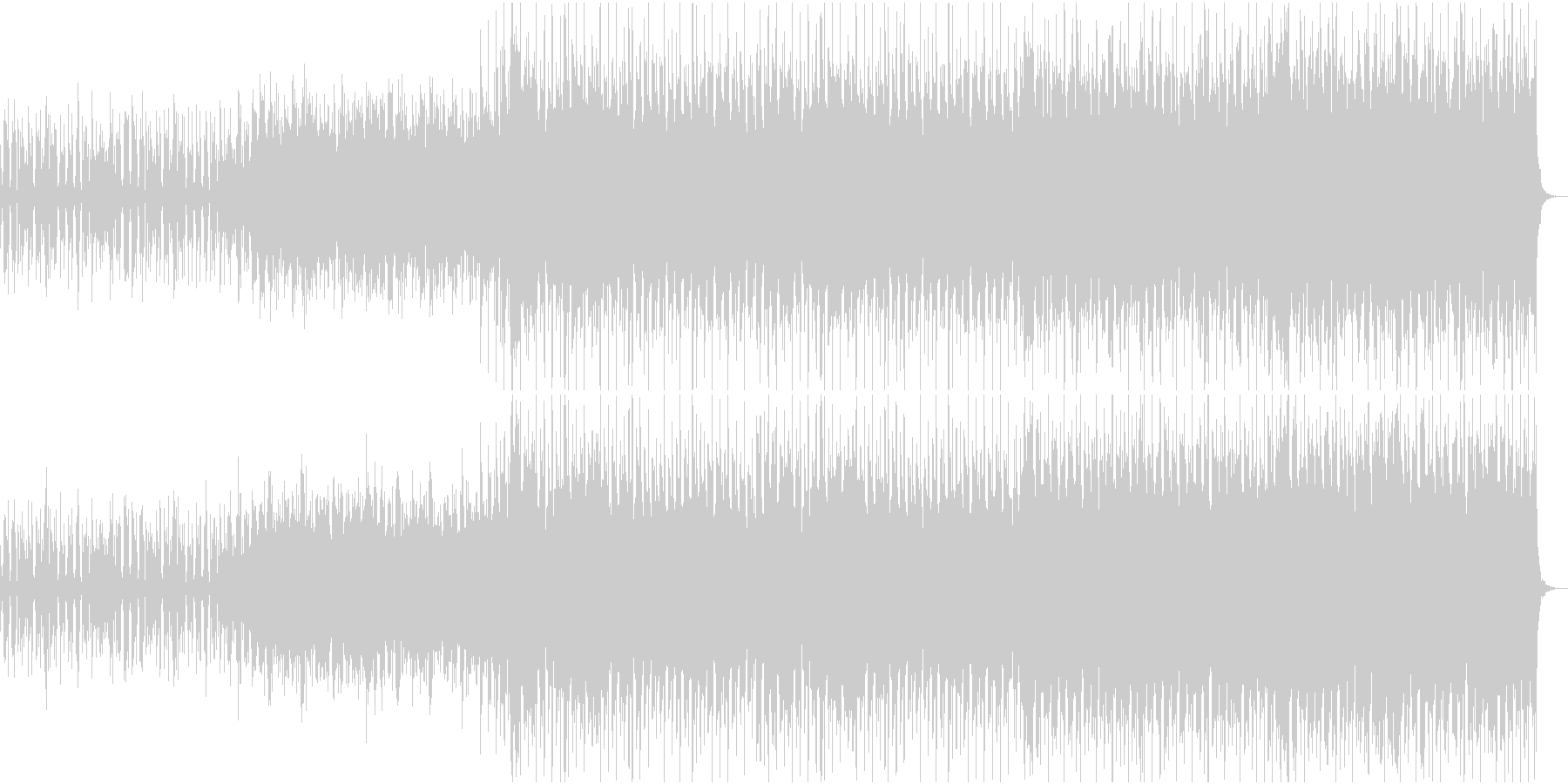 エレクトロビートにサックスのメロディーの未再生の波形