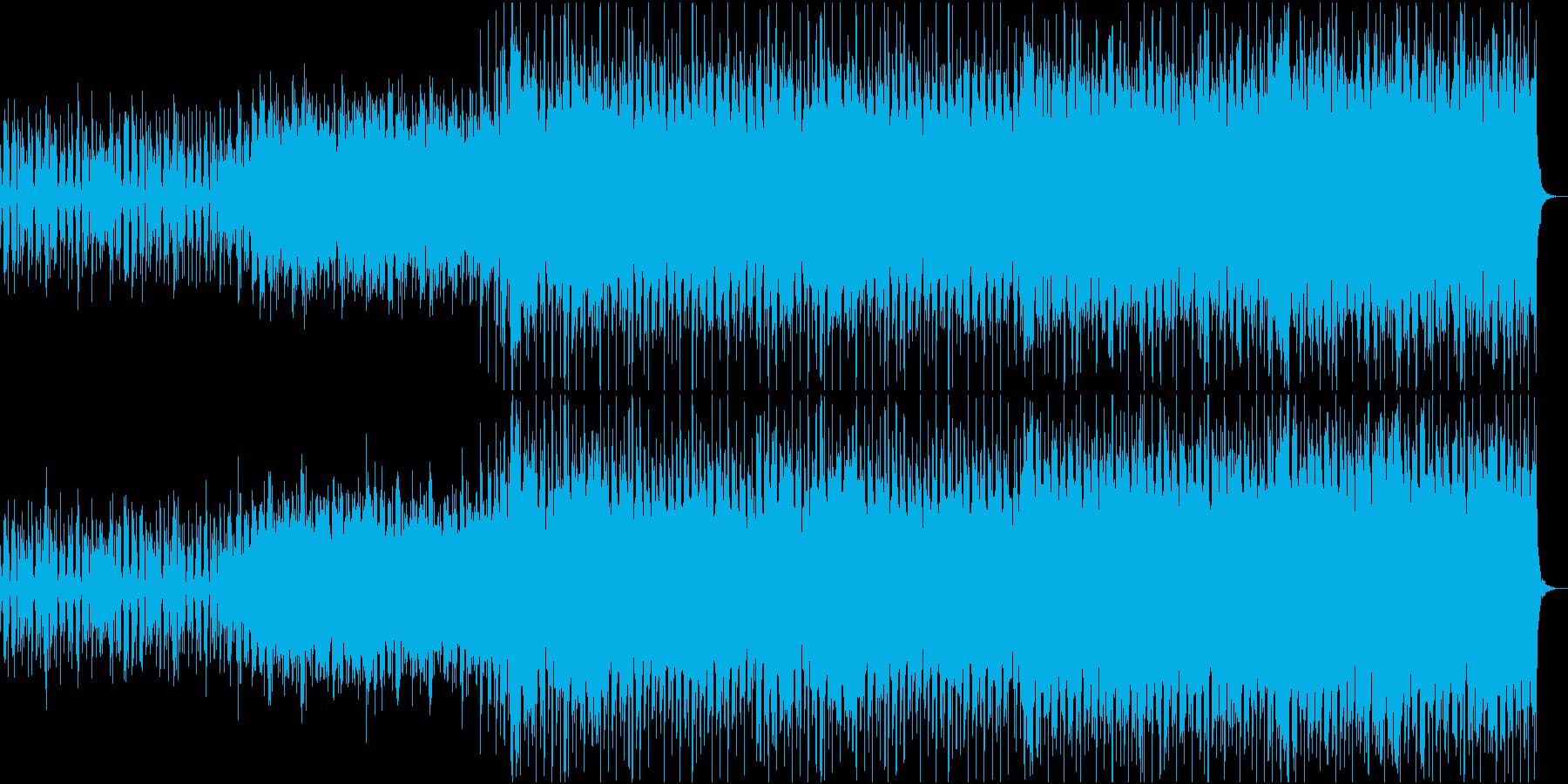 エレクトロビートにサックスのメロディーの再生済みの波形
